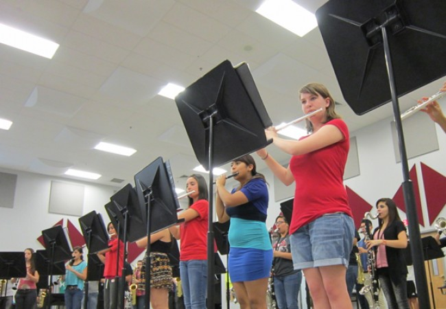 Flutes playing music