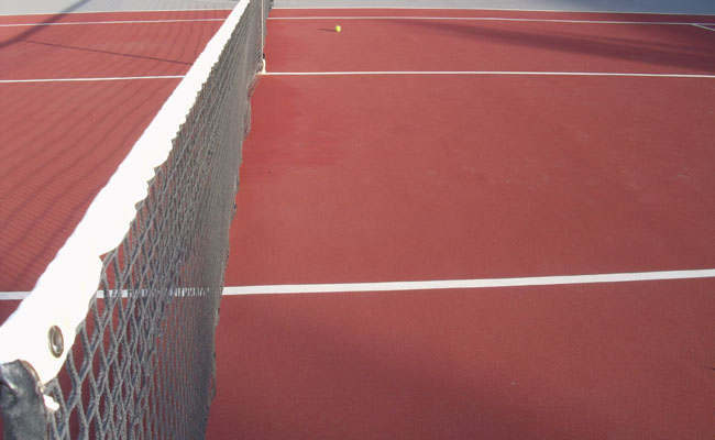 Picture of J.M Hanks' tennis courts( picture by Karen Castillo)
