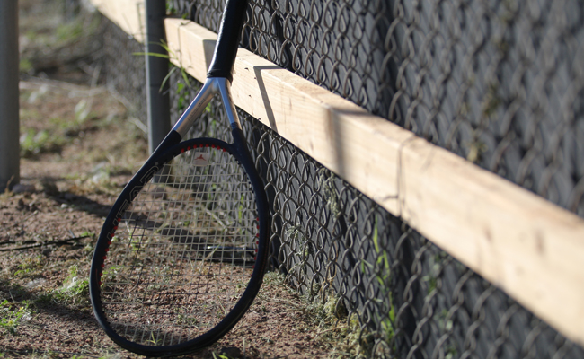 Tennis racket (photo by Ali Snyder).