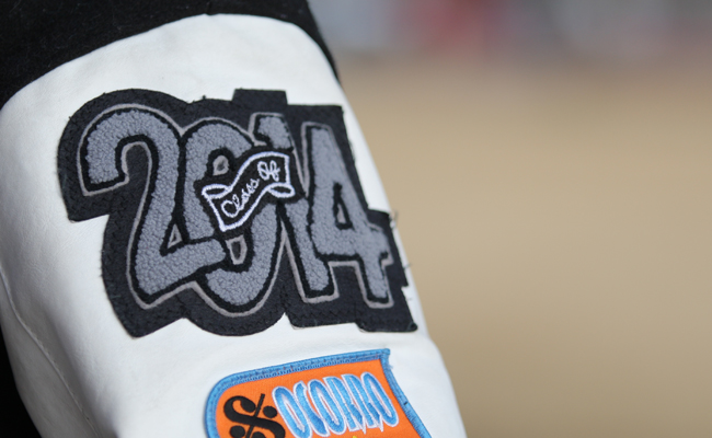 2014 letterman jacket patch (photo by Ali Snyder).