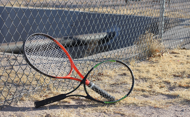 Tennis rackets (photo by: Ali Snyder).