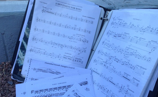 Music for concert band (photo by Ali Snyder).